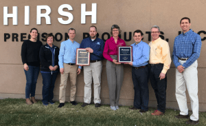Hirsh receives manufacturing awards